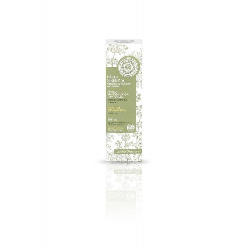 Aralia Mandshurica Day Cream, Θρέψη και Ενυδάτωση για ξηρό δέρμα, με SPF-20, 50ml (ηλικίες 22+) - Natura Siberica