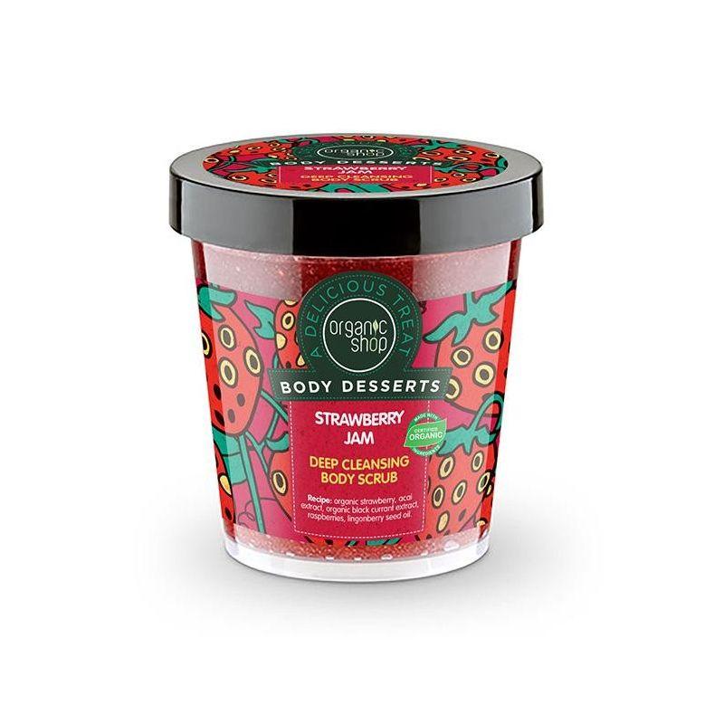 Body Desserts Strawberry Jam , Απολεπιστικό σώματος για βαθύ καθαρισμό , 450 ml - Natura Siberica