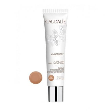 Caudalie Vinoperfect Radiance Tinted Moisturizer  SPF20 Medium -PharmacyStories