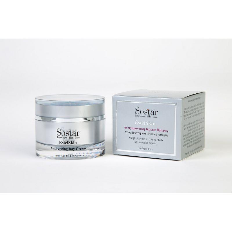 Estel Skin-Αντιγηραντική κρέμα ημέρας -Sostar 50ml - Sostar