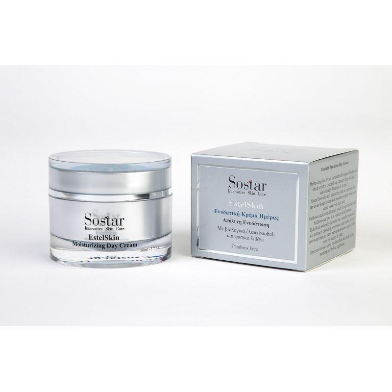 Estel skin-Ενυδατική κρέμα προσώπου- Sostar 50ml -Pharmacystories
