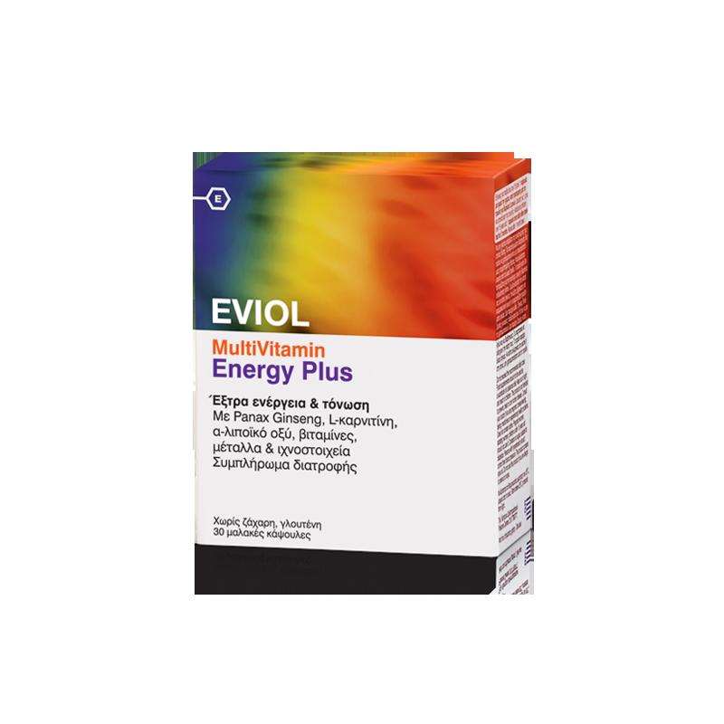 Eviol MultiVitamin Energy Plus 30 μαλακές κάψουλες - Eviol