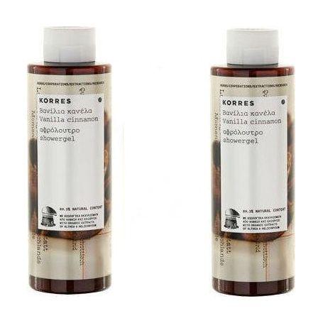 KORRES 1+1 ΔΩΡΟ Βανίλια Κανέλα Απολαυστικό Αφρόλουτρο σαν Καραμέλα Βουτύρου 250ml + 250ml - Korres