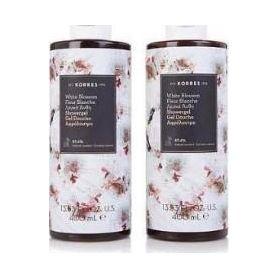Korres 1+1 Δώρο-Αφρόλουτρο Λευκά Άνθη με άρωμα Πούδρας - 2x250ml - Korres