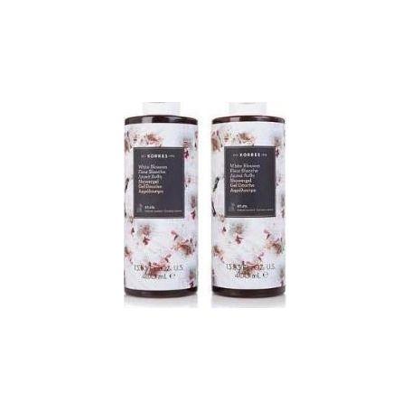 Korres 1+1 Δώρο-Αφρόλουτρο Λευκά Άνθη με άρωμα Πούδρας - 2x250ml -Pharmacystories