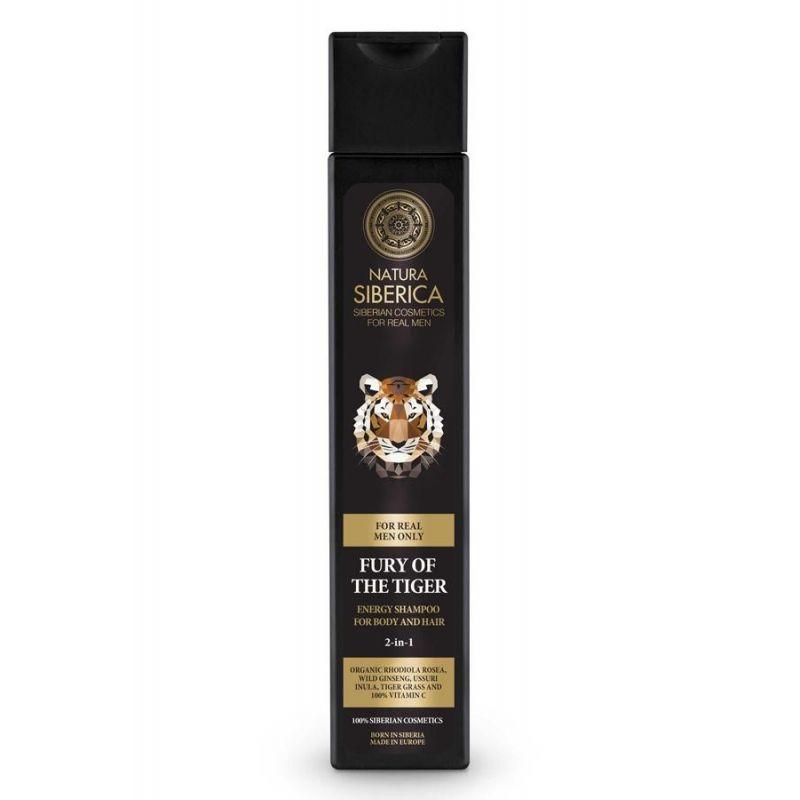 MEN Energy Shampoo for Body and Hair Fury of the Tiger, Σαμπουάν για το σώμα και τα μαλλιά 2 σε 1, 250 ml - Natura Siberica