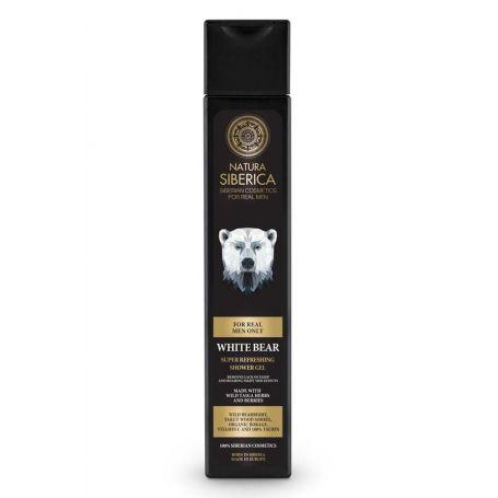 MEN Super Refreshing Shower Gel White Bear, Αναζωογονητικό Αφρόλουτρο, 250 ml - Natura Siberica