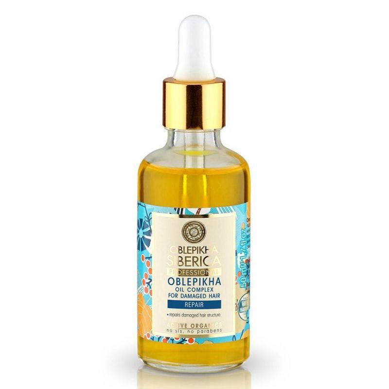 Oblepikha Oil Complex For Damaged Hair, Λαδάκι για Ταλαιπωρημένα Μαλλιά, 50ml - Natura Siberica