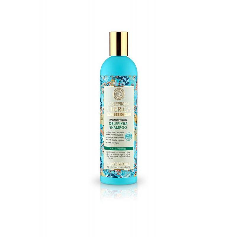 Oblepikha Shampoo για Μέγιστο Όγκο.Για Όλους τους Τύπους, 400 ml - Natura Siberica