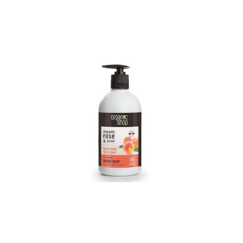 Organic Shop Nourishing Hand Soap Rose Peach Cosmos Natural (BDIH)500ml - Natura Siberica
