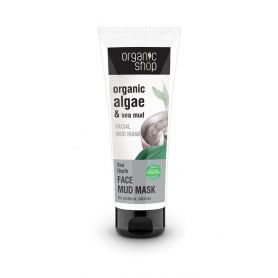 Organic Shop Μάσκα προσώπου Θαλασσινής λάσπης για σύσφιξη των πόρων, Facial Mud Mask Sea Depth, 75ml - Natura Siberica