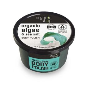 Organic Shop, Body polish Atlantic Algae, Scrub σώματος, Φύκια Αρκτικής, 250ml - Natura Siberica