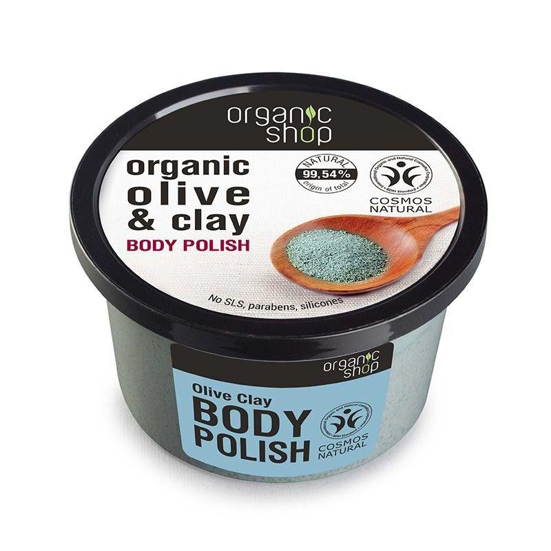 Organic Shop, Body polish Olive Clay, Scrub σώματος, Ελιά & Άργιλος, 250ml - Natura Siberica
