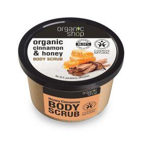 Organic Shop, Body scrub Honey Cinnamon, Scrub σώματος, Κανέλα & Μέλι 250ml - Natura Siberica