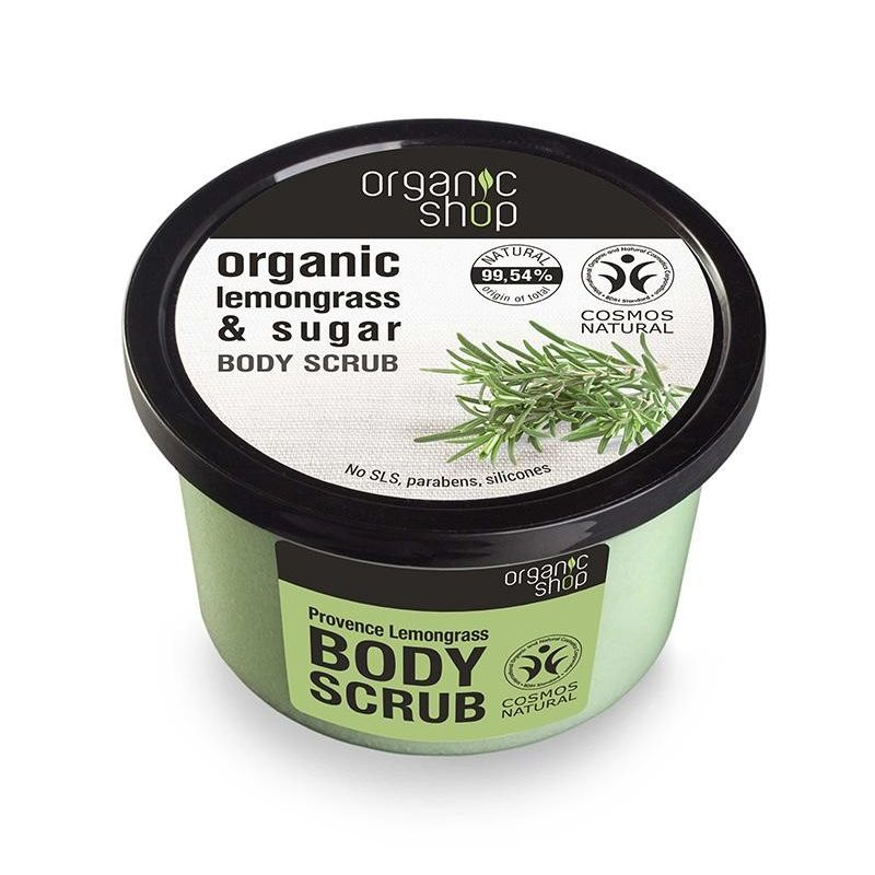Organic Shop, Body scrub Provancal Lemongrass, Scrub σώματος -Natura Siberica Greece -Natura Siberica -PharmacyStories