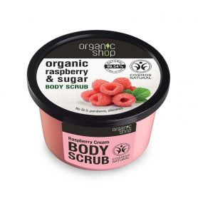 Organic Shop, Body scrub Raspberry Cream, Scrub σώματος -Natura Siberica Greece -Natura Siberica -PharmacyStories