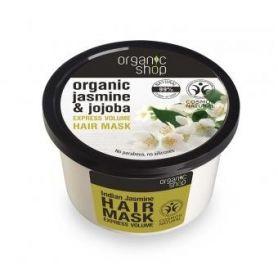 Organic Shop, Βιολογικό Γιασεμί & Jojoba, Μάσκα μαλλιών για γρήγορο όγκο, 250ml - Natura Siberica