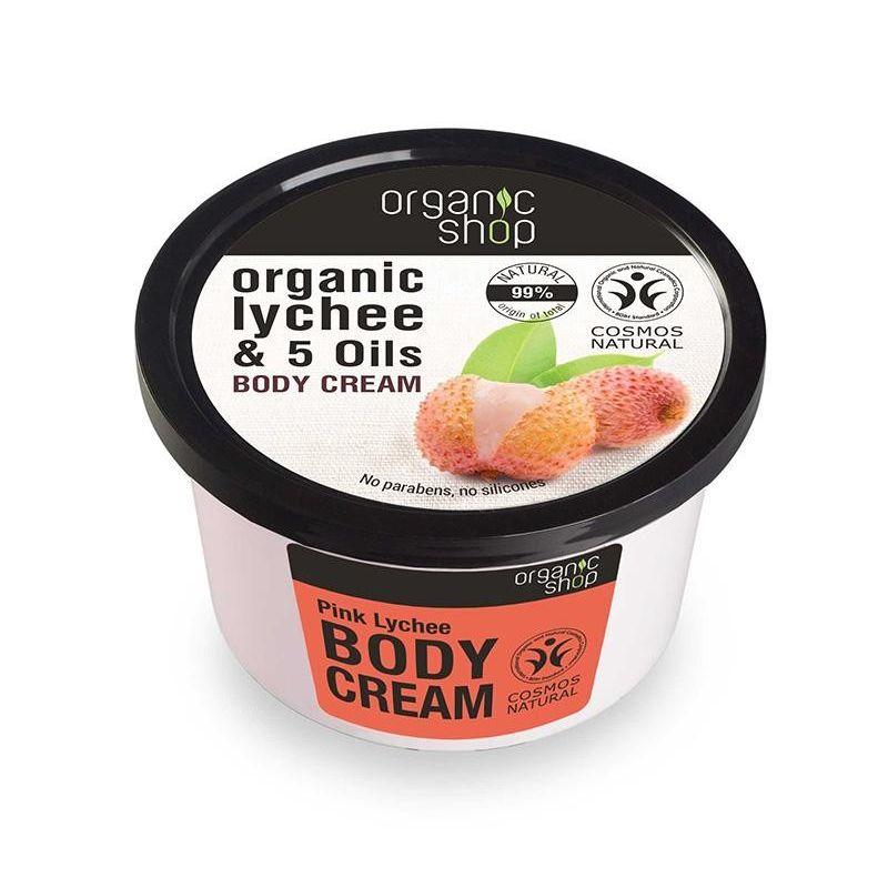 Organic Shop, Βιολογικό Λίτσι & 5 Έλαια, BODY CREAM, 250ml - Natura Siberica