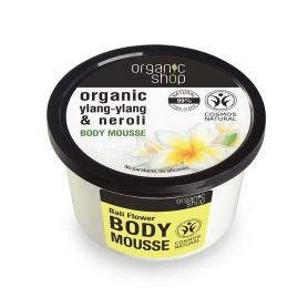 Organic Shop, Βιολογικό Υλάνγκ-Υλάνγκ & Νερολί, BODY MOUSSE , 250ml -PharmacyStories