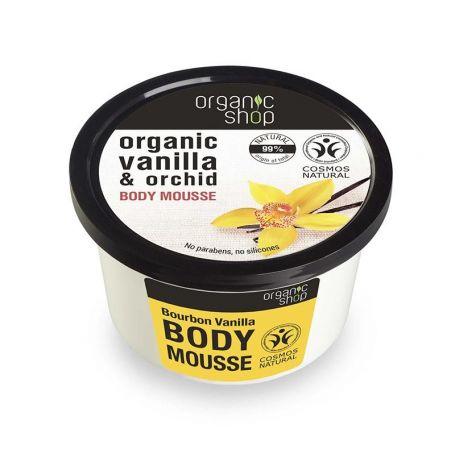 Organic Shop,Βιολογική Βανίλια & Ορχιδέα, BODY MOUSSE, 250ml - Natura Siberica