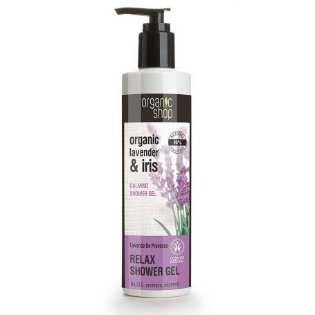 Organic lavender & iris , calming shower gel, Βιολογική λεβάντα & ίριδα, Χαλαρωτικό αφρόλουτρο, 280ml - Natura Siberica