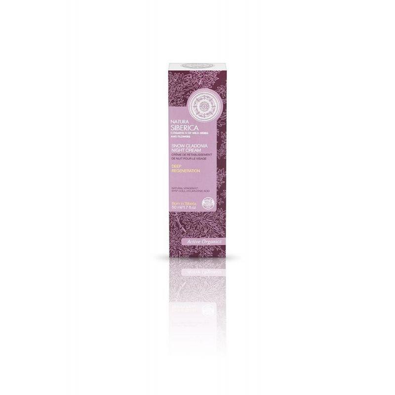 Snow Cladonia Night Cream, Βαθιά Αναγέννηση , 50 ml (Κατάλληλο για ηλικίες 28- 30+) - Natura Siberica