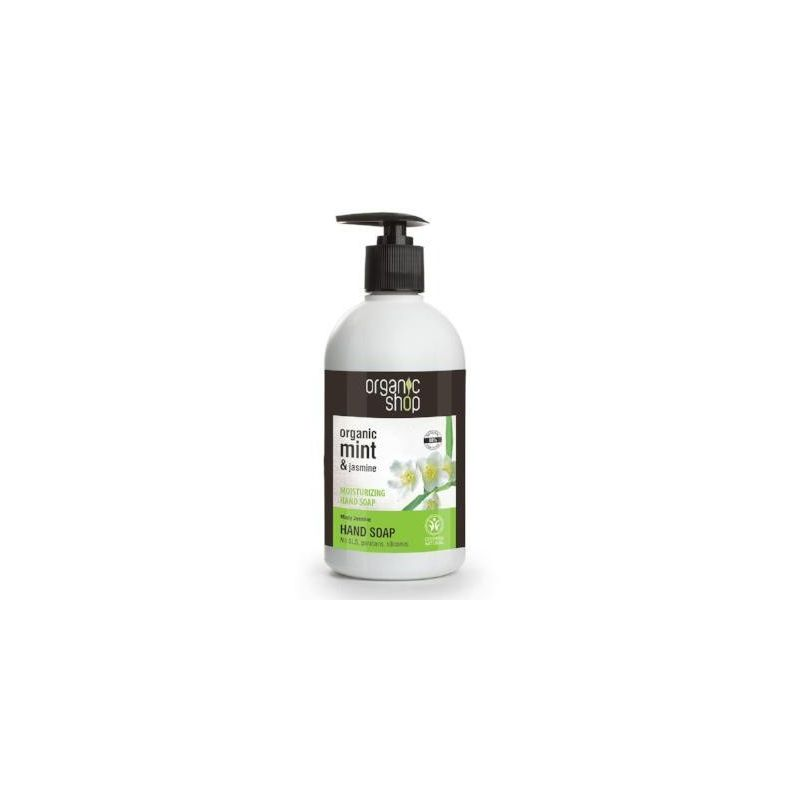 Organic Shop Softening Hand Soap Ενυδατικό κρεμοσάπουνο χεριών Μέντα & Γιασεμί- PharmacyStories-Natura Siberica