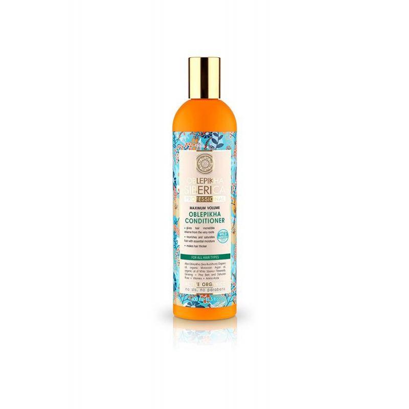 Oblepikha Hair Conditioner Μέγιστος Όγκος, Όλοι οι Τύποι Μαλλιών, 400ml - Natura Siberica
