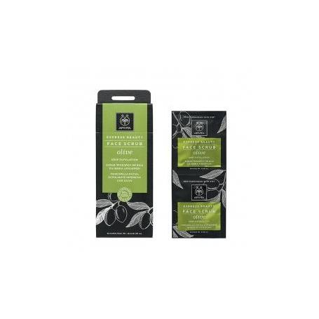 Apivita Express Beauty Scrub Βαθιάς Απολέπισης Με Ελιά 2x8ml-pharmacystories-apivita