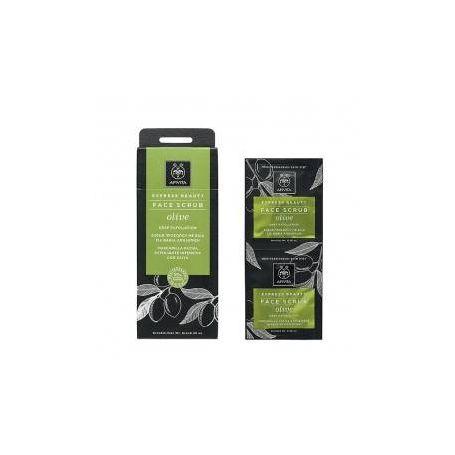 Apivita Express Beauty Scrub Βαθιάς Απολέπισης Με Ελιά 2x8ml - Apivita