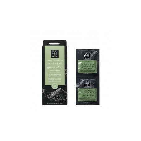 Apivita Express Beauty Μάσκα για Βαθύ Καθαρισμό με Πράσινη Άργιλο 2x8ml - Apivita