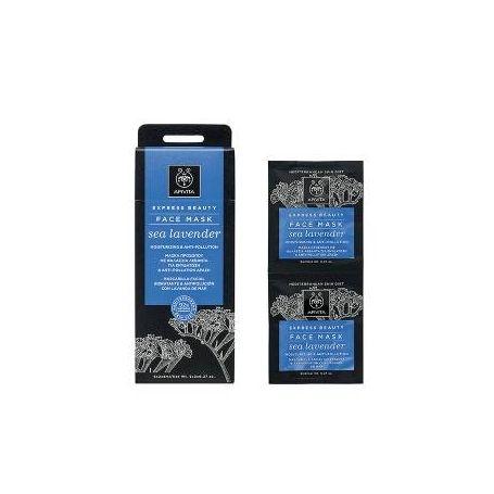 Apivita Express Beauty Μάσκα Ενυδάτωσης & Προστασίας με Θαλάσσια Λεβάντα 2x8ml - Apivita