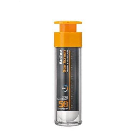 Frezyderm Active Sun Screen Tinted Face Cream SPF 50+ - Frezyderm