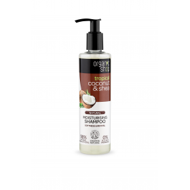 Organic Coconut&Shea , Οργανική Καρύδα & Βούτυρο Καριτέ - Σαμπουάν Ενυδάτωσης , Απαλότητα & Αναζωογόννηση , 280ml. - Natura S...