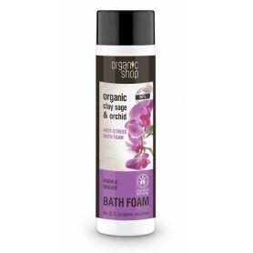 Purple Orchid, Bath Foam , Αφρόλουτρο Φασκόμηλο & Ορχιδέα, 500ml - Natura Siberica