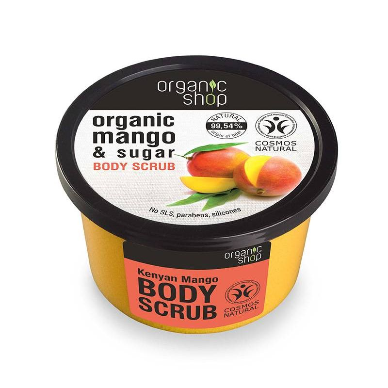 Organic shop , Body scrub Kenyan Mango, Scrub σώματος, Μανγκο Κένυας, 250ml - Natura Siberica