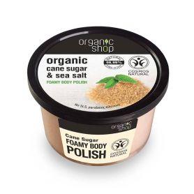 Organic Shop Foamy body polish Cane Sugar-Natura Siberica Greece -Natura Siberica -PharmacyStories
