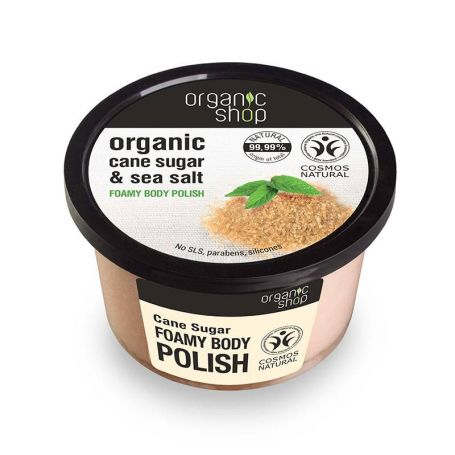 Organic Shop Foamy body polish Cane Sugar-Natura Siberica Greece -Natura Siberica -PharmacyStories