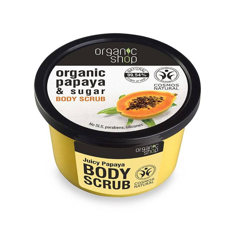 Body scrub Juicy Papaya top, Scrub σώματος, Παπάγια και ζάχαρη , 250ml - Natura Siberica