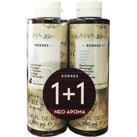 Korres Showergel Yoghurt (1+1 ΔΩΡΟ) Αφρόλουτρο Γιαούρτι, 2 x 250ml - Korres