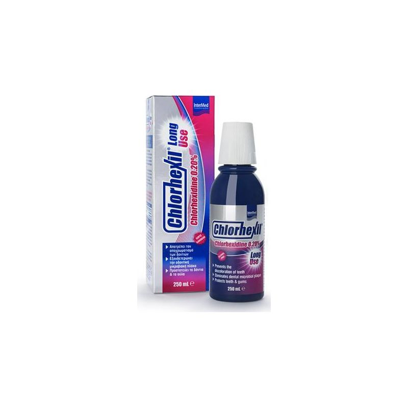 Chlorhexil Long Use Διάλυμα Χλωρεξιδίνης 0.20% 250ml - Intermed