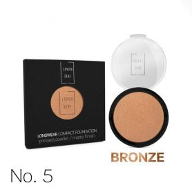 Lavish Care Longwear Compact Foundation Pressed Powder / Matte Finish -No5 BRONZE 12g - Lavish Care