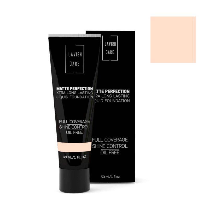 Lavish Care Matte Perfection - No4 XTRA Long Lasting Liquid Foundation 30ml - Lavish Care
