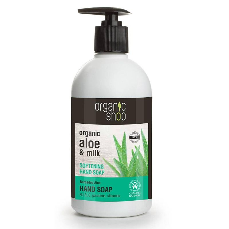 Organic Shop Softening Hand Soap Barbados Aloe Cosmos Natural -Natura Siberica -Pharmacystories