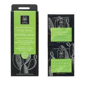 Apivita Express Beauty Μάσκα Προσώπου με Φραγκόσυκο για Ενυδάτωση & Καταπράυνση 2x8ml -pharmacystories