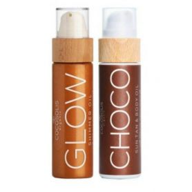 Cocosolis Summer Set με CHOCO Sun Tan Body Oil 110ml + GLOW Shimmer Oil 110ml-pharmacystories