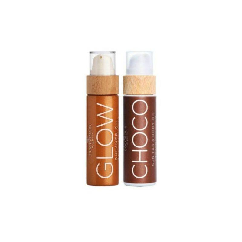 Cocosolis Summer Set με CHOCO Sun Tan Body Oil 110ml + GLOW Shimmer Oil 110ml - Cocosolis