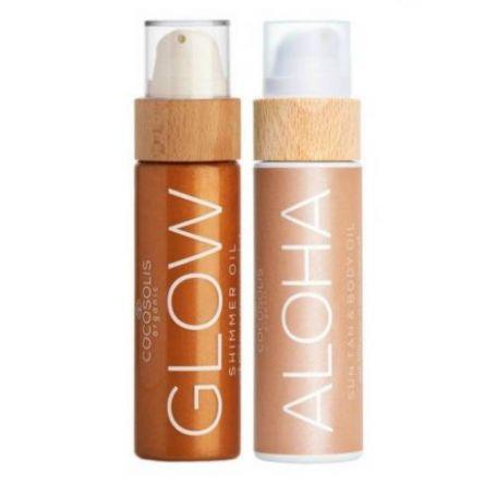 Cocosolis Summer Set με ALOHA Sun Tan Body Oil 110ml + GLOW Shimmer Oil 110ml - Cocosolis