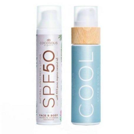Cocosolis Summer Set με Sunscreen Lotion SPF50 100ml + COOL After Sun Oil 110ml -pharmacystories
