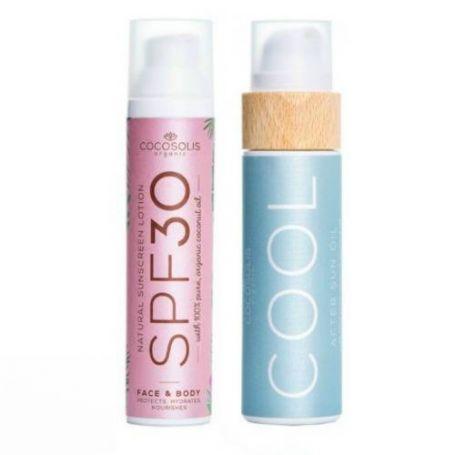 Cocosolis Summer Set με Sunscreen Lotion SPF30 100ml + COOL After Sun Oil 110ml -Pharmacystories